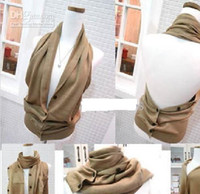 Wholesale Magic Scarf Pashmina - Hot selling 7ways Hight-grade Magic Scarf Neck warmers Cappa Weskit Scarf Kniting scarves