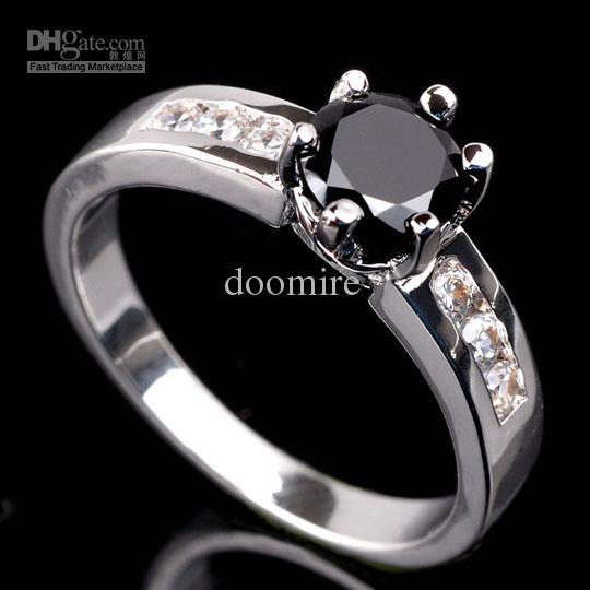 2018 Eluna Black Onyx Womens Cocktail Ring Gemstone Fashion Jewelry