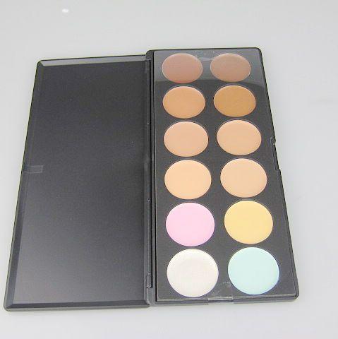 / mycket nya 12 färger concealer camouflage makeup palatte volympulver; skönhet pro face cream makeup concealer contour palette kit