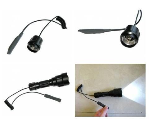 DHL / EMS gratis, Comercio al por mayor de la serie C8 de control remoto de interruptor de presión de linterna LED LED