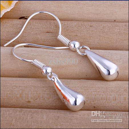Hot Nieuwe Mode 925 Silver Oorbellen Dames Accessoires Gratis Verzending 20 Paar / partij