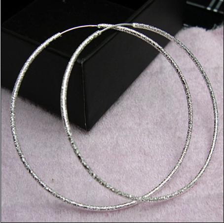 Más vendido 925 pendientes de aro de plata esterlina anillo de arena de moda envío gratis regalos joyería 20pair