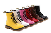 Wholesale Durable Ankle Boot - Hot new Top Cowskin 8 holes Martin boots genuine leather durable ankle boots shoes 6 colors