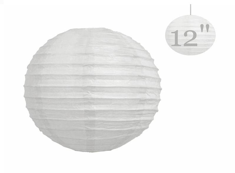 Chinese Paper Lanterns Lamps Wedding Party Decorations White 12 Or ...