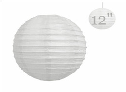 """Wholesale Paper Pirates - 20 Pcs Chinese Paper Lanterns lamps WEDDING Party DECORATIONS White 12"""" (or Mix Color)"""