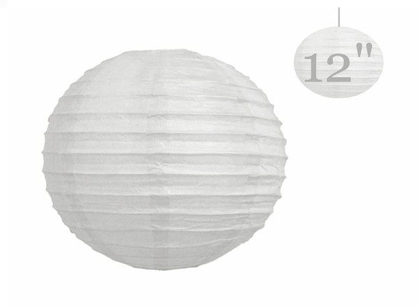 """20 Pcs Chinese Paper Lanterns lamps WEDDING Party DECORATIONS White 12"""" (or Mix Color)"""