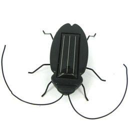 Wholesale Solar Power Black Cockroach Bug - Funny Solar Grasshopper, Solar Mini Car, Solar cockroach, Solar Powered Bug Educational Toy