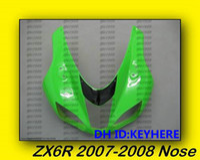 Wholesale upper fairing resale online - Upper Front Nose for KAWASAKI ZX6R R Upper Front Nose green color Fairing bodywork