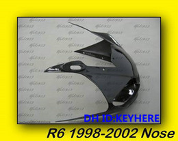 Wholesale Yamaha Upper Fairing - 1ps YAMAHA YZF-R6 98-02 1998-2002 Upper Front Nose black Fairing bodywork,Support DIY color