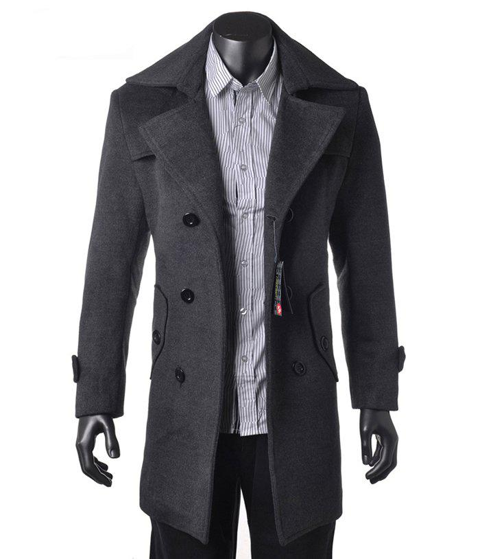 Mens Trench Coat New Fashion Men Wool Cashmere Trench Coat Winter ...