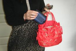 Wholesale Embroidery Cosmetic Bag - New Lady Girls Women bag Handbags Purses clutch bag cosmetic bag Embroidery Silks and Satins fashionable Bag001