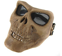 Wholesale Cacique Mask - New M02 Skull Mask Full Face Airsoft Protector Mask Cacique soldier mask cosplay mask skull Halloween#35