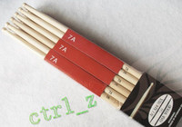 Wholesale Sticks 5b - DHL ship Fashion A Pair Music Maple Wood Drum Sticks Drumsticks 5A Oval shaped wooden 5B
