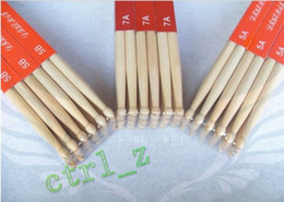 Wholesale Band Drum - Wholesale - Fashion A Pair Music Band Maple Wood Drum Sticks Drumsticks 5A 7A Oval shaped wooden