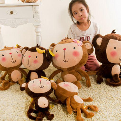 원숭이 봉제 완구 60 CM 대형 애호가 원숭이 인형 애호가 원숭이 (무작위로 거짓말을하는 역)