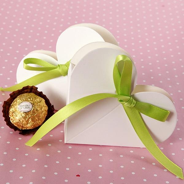 Heart Shaped Favor Boxes Wedding Box Gift Candy