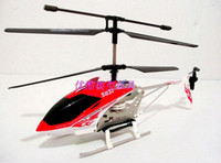 Wholesale Metal 3ch Helicopter - 2016 New Children kid gift toy SYMA S032 S032G 3CH Electric RC Helicopter with GYRO Aluminium Fuselage Stable Flight Red Blue Color