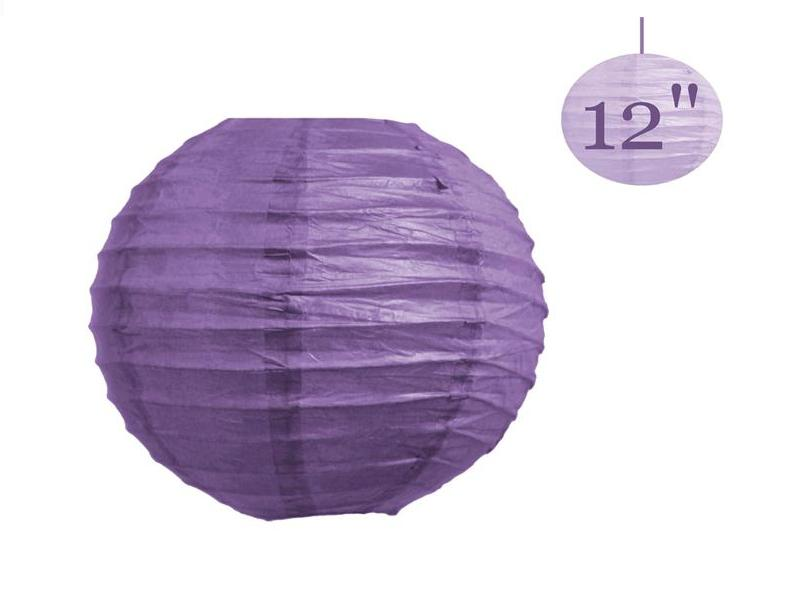 """30 Pcs Chinese Paper Lantern lamps WEDDING Party DECORATIONS Purple 12"""" / 8"""" ( You can Mix Color)"""
