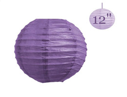 """Wholesale Chinese Lanterns Purple - 30 Pcs Chinese Paper Lantern lamps WEDDING Party DECORATIONS Purple 12""""   8"""" ( You can Mix Color)"""