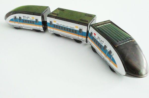 DIY Montagem Educacional Movido A Energia Solar Brinquedo Trem de Bala Brinquedo Solar de alta qualidade 5 pcs