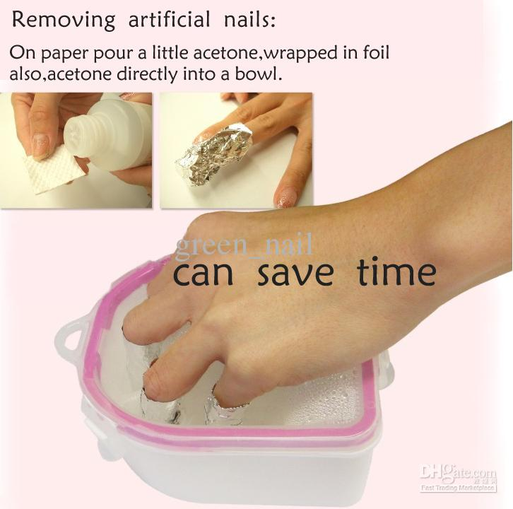 Soak bowl warm water soak bowl finger dipper nail art for Acrylic nail removal salon