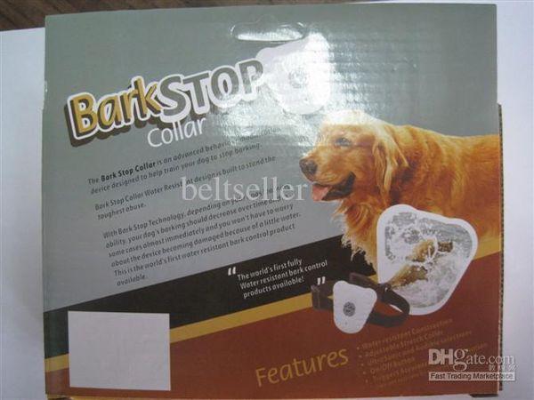 10pcs/lot Waterproof Ultrasonic Pet Dog Anti Bark Stop Training Collars Adjustable stretch dog collar pet training machine supplies