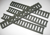 """Wholesale picatinny rail mount handguard - Hunting 4 Piece Set Of 18 Slot Snap-on Ladder Rail Cover Quad Handguard W  Picatinny Black Tan Color 7"""" Fit for 21 mm mount"""