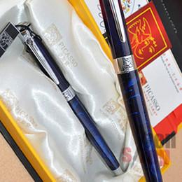 Wholesale Pen King - PICASSO 903 MAGIC BLUE AND SIER SWEDEN FLOWER KING FINE NIB FOUNTAIN PEN
