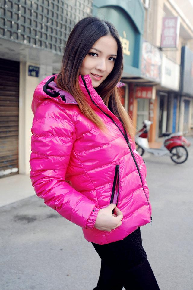 Best Fashion Celebrity Lady Down Coat , Women Short Down Coat ...
