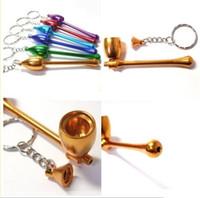 Wholesale Mushrooms Men - Novelty smoking pipe magic keychains promotional gifts Mushrooms pipe key chain men women gift toy