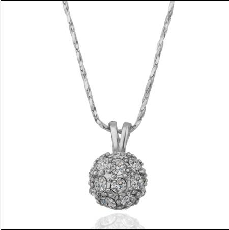 Wholesale Hot High End Fashion Jewelry White Gold Diamond Crystal