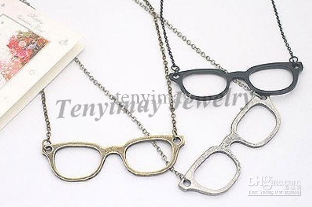 Pullover Halskette Mode Legierung Gläser Anhänger Halskette Kostenloser Versand