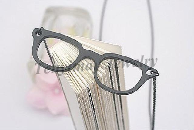 Pull Collier Mode Alliage Lunettes Pendentif Collier Livraison Gratuite