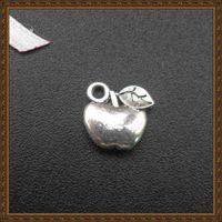 Wholesale Zipper Charms Wholesale - DIY jewelry accessories alloy Ancient silver plating apple fruit charms handbag zipper charms pendant necklace CP10072 10x9mm 100pcs lot
