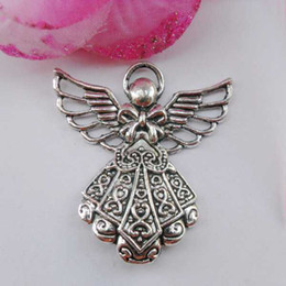 Wholesale Traditional Handbags - DIY jewelry accessories alloy Ancient silver cute big angel charms handbag zipper charms pendants jewelry CP40022 26x23.5mm 45pcs lot