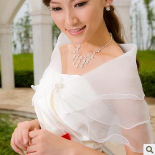 2018 Ivory White Bridal Shawl Wedding Warp Jacket For