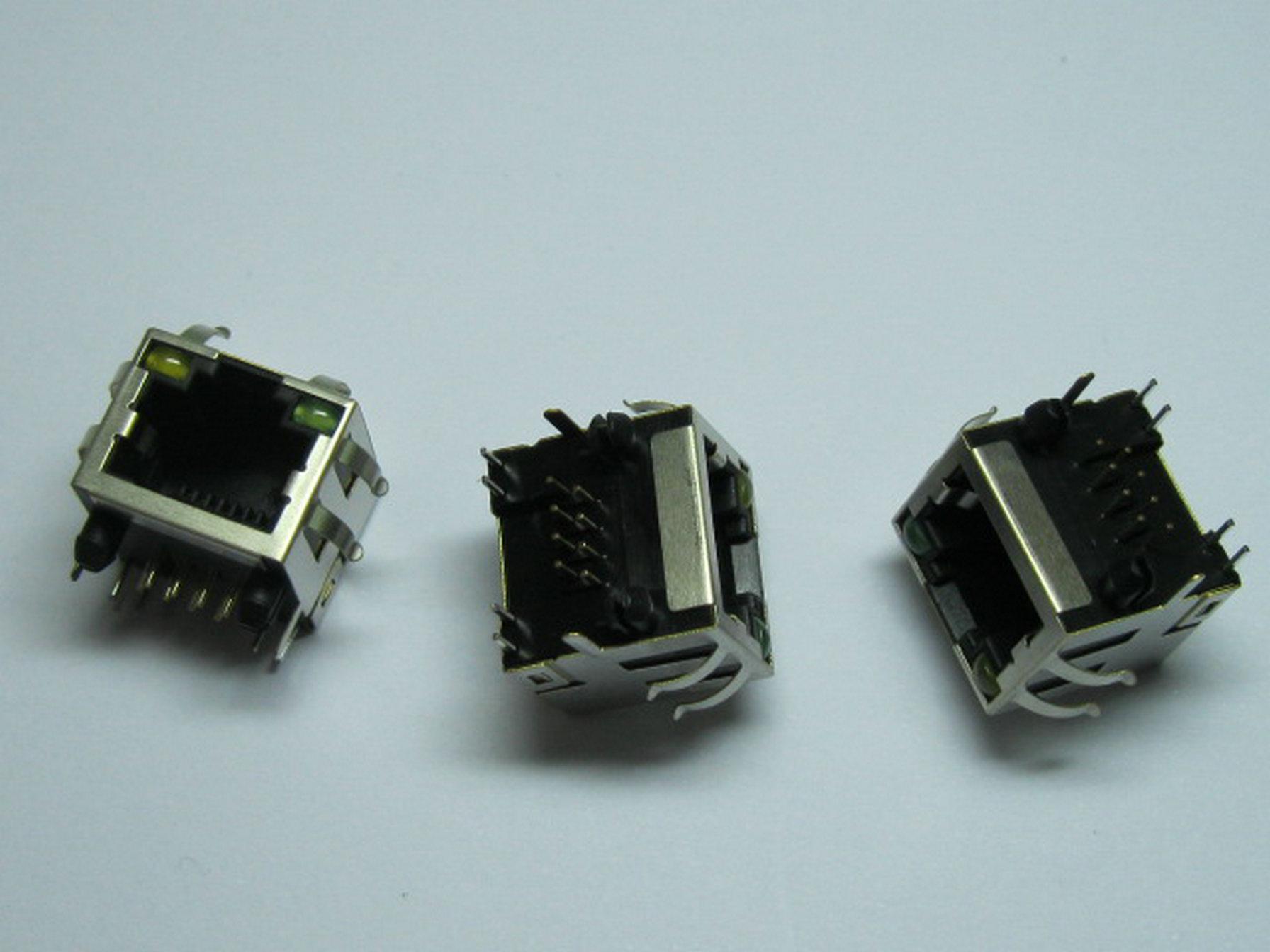 60 pz Connettore RJ45 circuito modulare 56 56P con ingresso laterale a LED