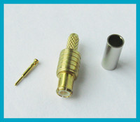 Wholesale Mcx Male Plug - 10pcs lot MCX Crimp Plug male connector for LMR100 RG174 RG316 free shipping