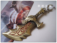 Wholesale Kratos God War Toy - Brand new GOD OF WAR Kratos BLADE OF CHAOS Excalibur Keychain gift toy