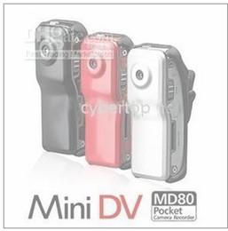 Wholesale Webcam Price - Price Discount 720x480 30FPS MD80 spy Mini DV DVR Sport Video Camera webcam Black RED SIER Via DHL