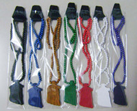 Wholesale Hip Hop Beaded Acrylic Necklaces - Multicolor Promotion Goodwood Necklace HIP HOP Rosary Beads JESUS Pendants Good Wood Necklace Factory Price Free Shipping