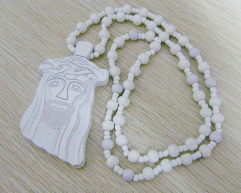 Multicolor Promotion Goodwood Necklace HIP HOP Rosary Beads JESUS Pendants Good Wood Necklace Factory Price