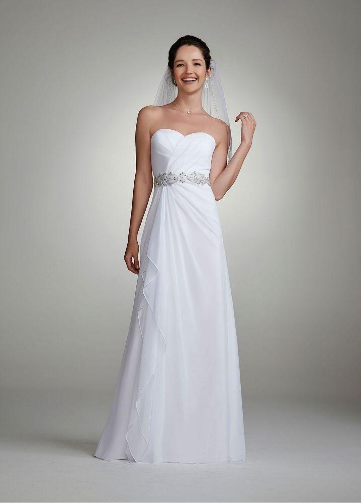 Discount White Chiffon Bridal Gown Beaded Wedding Dress 231m16710 ...