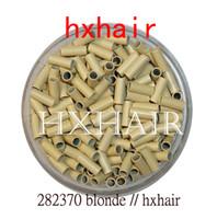 kit de herramientas de extensión de cabello micro perlas al por mayor-20000pcs 2.8mm Tubo de cobre Micro anillos / Enlaces Perlas / Negro D-Marrón Marrón L-Marrón Rubio