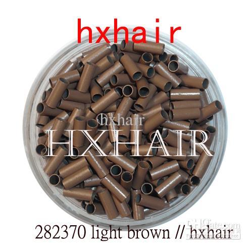5000pcs 2.8 mm 구리 튜브 마이크로 링 / 링크 구슬 / 블랙 D- 브라운 브라운 L- 브라운 금발
