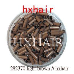 $enCountryForm.capitalKeyWord Australia - 10000pcs 2.8mm Copper Tube Micro Rings   Links Beads   Black D-Brown Brown L-Brown Blonde