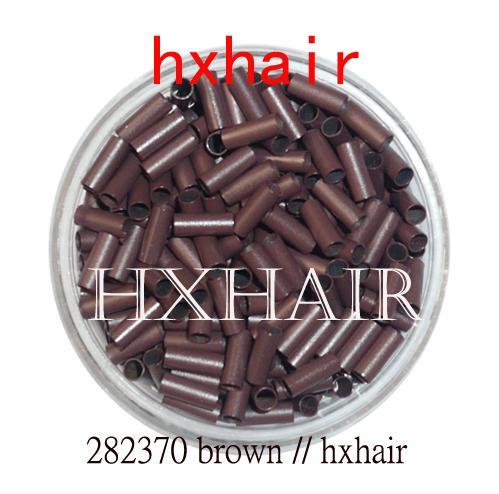 20000 sztuk 2.8mm Tube miedziane Micro Rings / Links Koraliki / Czarny D-Brown Brown L-Brown Blonde