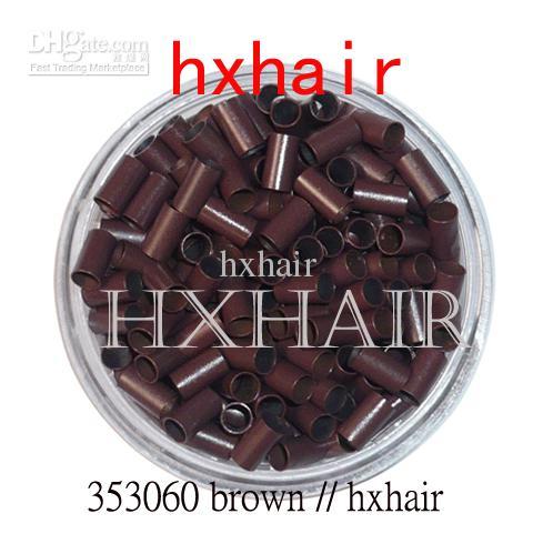 3.5mm أنابيب النحاس خواتم مايكرو / روابط الخرز / أسود براون براون L- براون شقراء