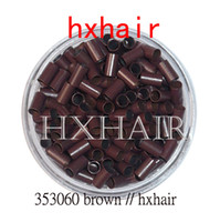 5000pcs 3.5mm cobre tubo micro anillos / enlaces perlas / negro D-Brown Brown L-Brown Blonde