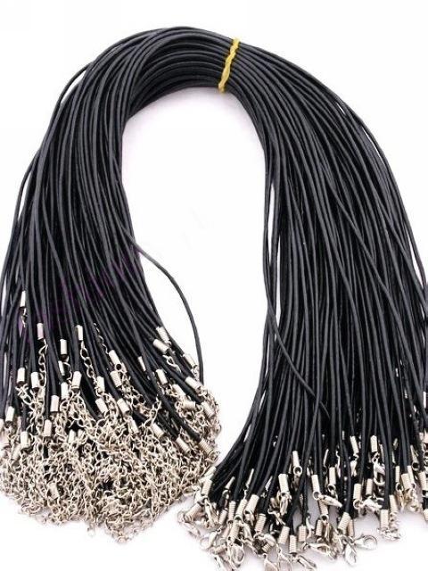 매력 목걸이에 대한 도매 / 2mm 블랙 가죽 목걸이 코드 무료 배송